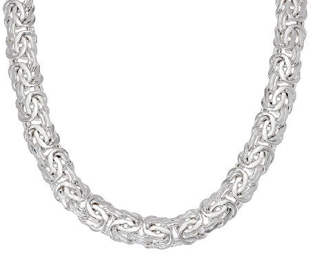 """As Is""Sterling Silver 18"" Byzantine Necklace, 57.0g by Silver Style"