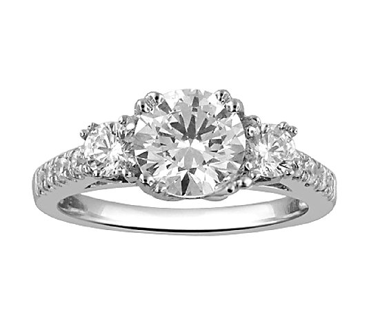 3-Stone Diamond Bridal Ring, 14K, 1.50cttw by Affinity