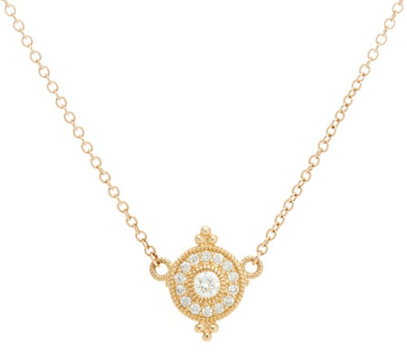 Judith Ripka 14K Gold 1/5 cttw Diamond Necklace