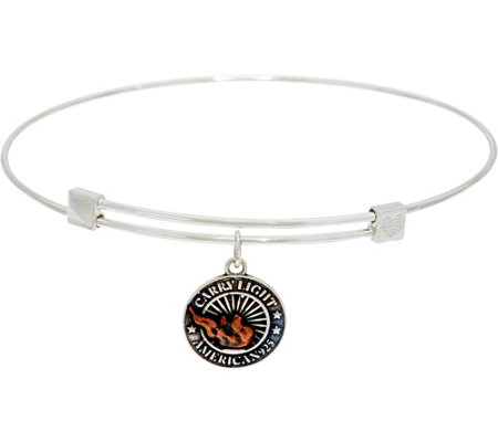 Alex and Ani Liberty Copper Carry Light Charm Bangle