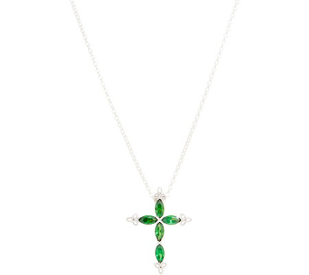 "Fado Sterling Silver Cross Pendant with 18"" Chain"