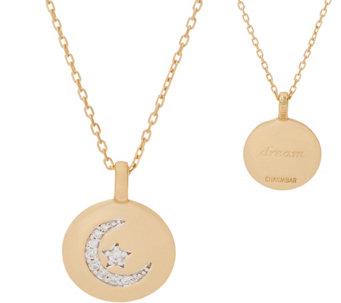 Pendants gold silver gemstone more qvc diamonique charmbar motif pendant by alex woo 14k gold clad j355715 aloadofball Images