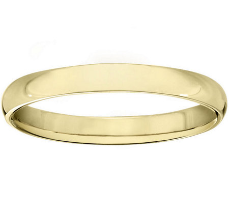 Men's 14K Yellow Gold 3mm Half Round Wedding Band