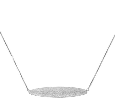 "Sterling Oblong Disk 18"" Necklace, 3.7g by Silver Style"