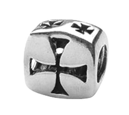 Prerogatives Sterling Silver Maltese Cross Bead
