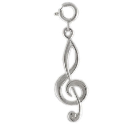 Sterling Treble Clef Charm