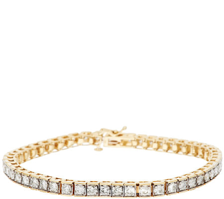 Diamond Clic Line Tennis Bracelet 14k Gold By Affinity