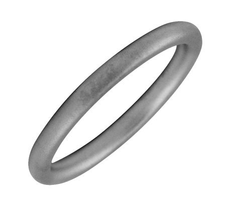 Simply Stacks Black Rhodium-Plated Sterling Ring -Satin Finish
