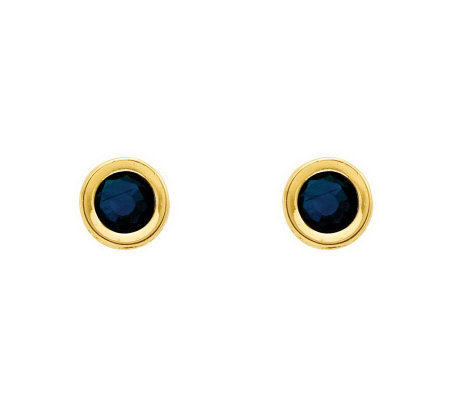 4mm Round Birthstone Stud Earrings, 14K Gold