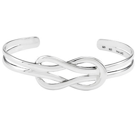 Sterling Polished Solid Knot Cuff