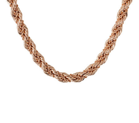 "Bronzo Italia 18"" Bold Fancy Rope Necklace"