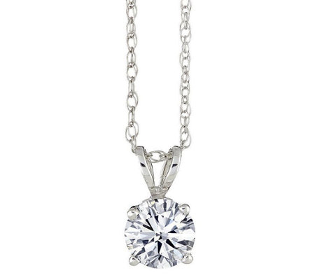 Round Diamond Solitaire Pendant, 14K Gold 1/2ctby Affinity