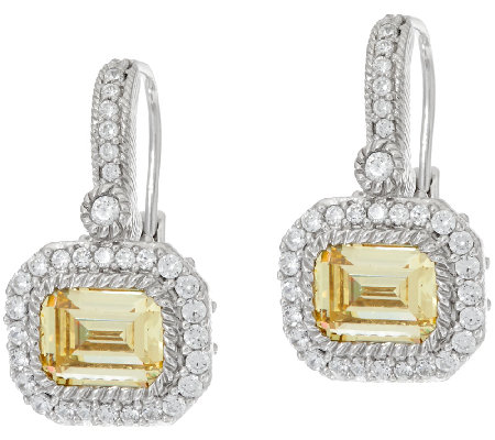 Judith Ripka 3 00 Cttw Yellow Diamonique Earrings