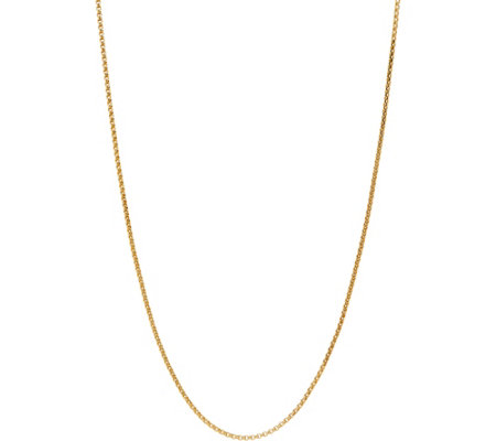 "Italian Gold Round Box Chain 18"" Necklace 14K Gold 3.0g"