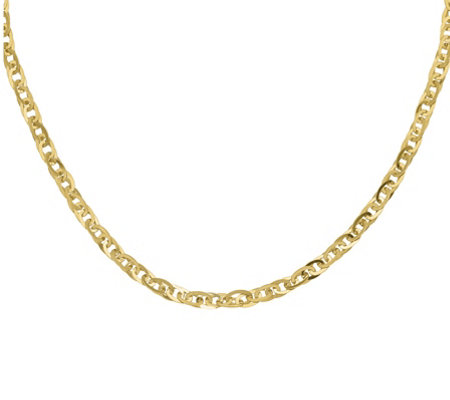 14K Gold Oval Interlocking Links Necklace, 13.1g