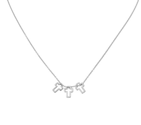 Sterling Cross Pendants with Chain by Silver Style
