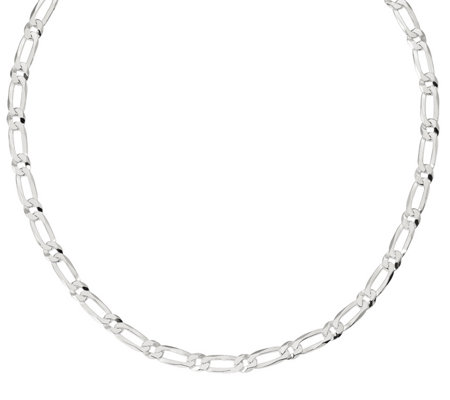 "Italian Silver 24"" Oval Link Chain, 39.8g"
