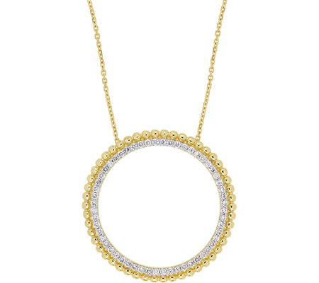 Affinity 14K 1/2 cttw Diamond Open Circle Pendant w/ Chain