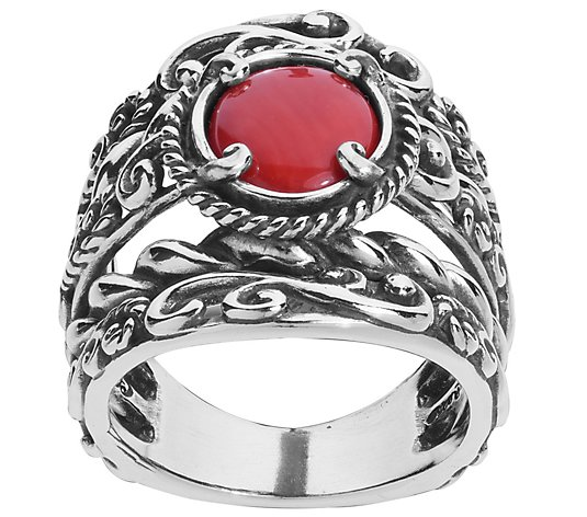 Carolyn Pollack Sterling Signature Gemstone Bold Ring