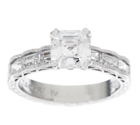 Tacori IV Diamonique Epiphany Asscher and Baguette Ring