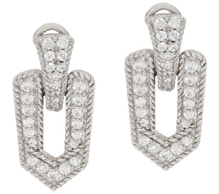 Judith Ripka Sterling & 1.25 ct tw Diamonique Earrings