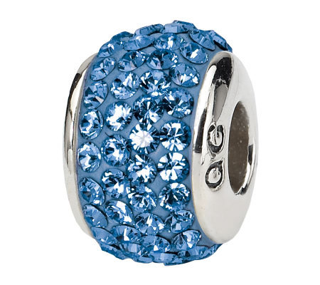Prerogatives Sterling Blue Full Swarovski Crystal Bead