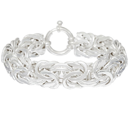 """As Is""Sterling 6-3/4""Byzantine Bracelet by Silver Style, 21.5g"