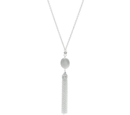 Sterling Silver Tassel Necklace by Silver Style