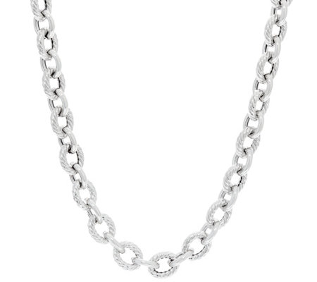 "Italian Silver Sterling 18"" Rolo Link Necklace 36.0g"