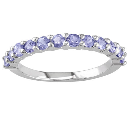 Sterling Silver 0.80 ct Tanzanite Band Ring