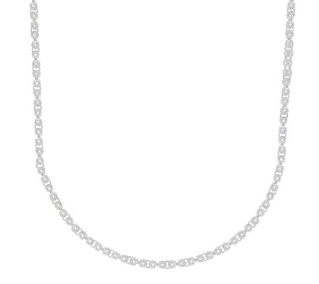 "UltraFine Silver 24"" Squared Byzantine Necklace. 25.00g"