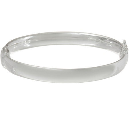 """As Is"" UltraFine Silver Average Solid Bangle Bracelet, 36.5g"