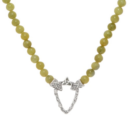 Connemara Marble Irish Beaded Necklace with Clasp