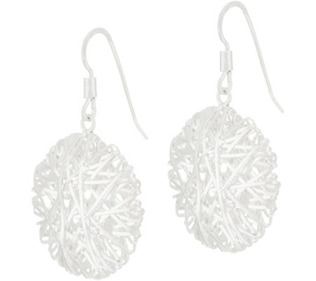 UltraFine Silver Wire Wrapped Drop Earrings