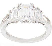 Diamonique Fancy Cut Ring, Sterling - J356117