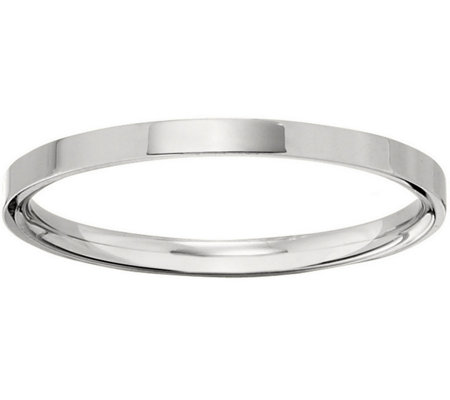 Men's 14K White Gold 2.5mm Flat Comfort Fit Wedding Band