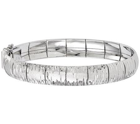 Italian Silver Diamond Cut Segment Bracelet 21 4g