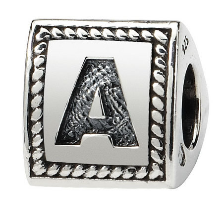 Prerogatives Sterling Triangle Alphabet Bead
