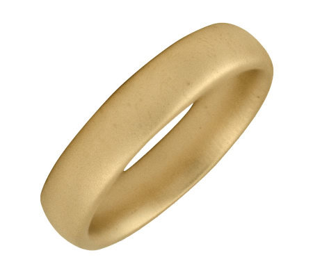 Simply Stacks Sterling 18K Yellow Gold-Plated 4.25mm SatinRing