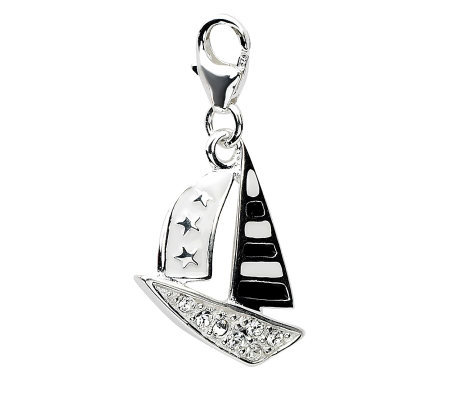 Amore La Vita Sterling Dimensional Sailboat Charm