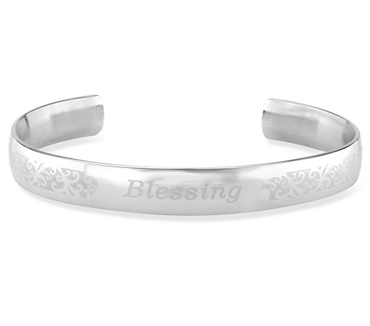 "Steel by Design Inspirational ""Blessing"" Cuff"