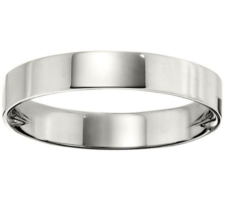 Men's 18K White Gold 4mm Flat Wedding Band