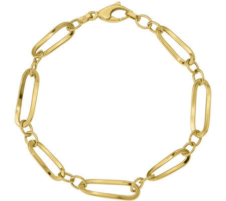 14K Yellow Gold Oblong Twisted Bracelet, 3.2g