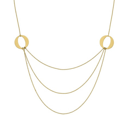 14K Gold Multi-Strand Necklace, 4.3g