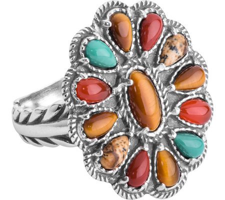 American West Earth Tone Multi Gemstone Ring