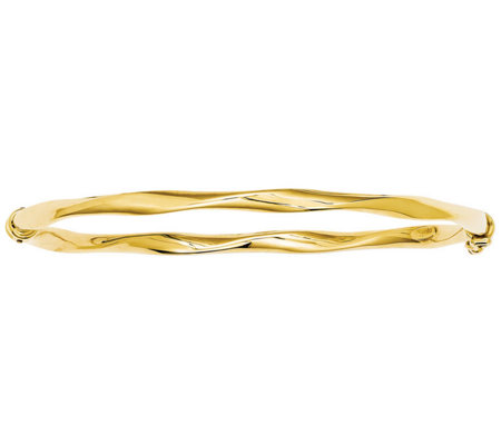Italian Gold Twisted Hinged Bangle 14K, 5.6g