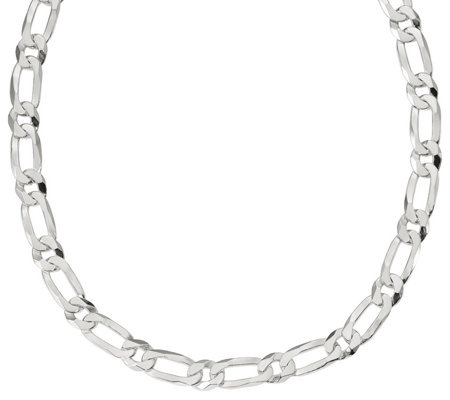 "Italian Silver 22"" Oval Link Chain, 89.7g"