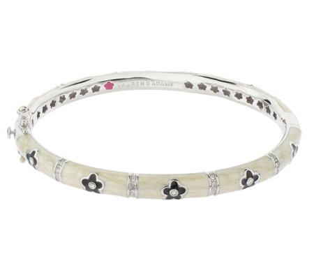 Lauren G Adams Silvertone Colored Enamel DaisyBangle