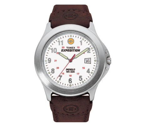 Timex Expedition Metal Field Watch with LeatherStrap