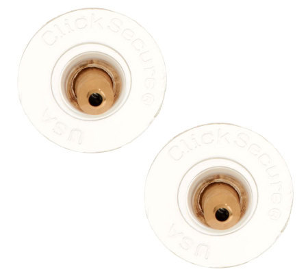Click Secure Oversized Round Disc Earring Backs 14K Yellow Gold